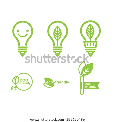 green energy bulbs vector illustration