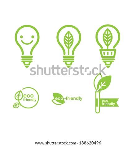 green energy bulbs vector illustration - stock vector