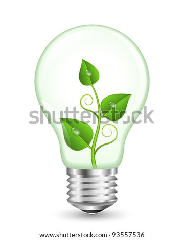 Green Energy Concept. EPS10 Vector Illustration - stock vector