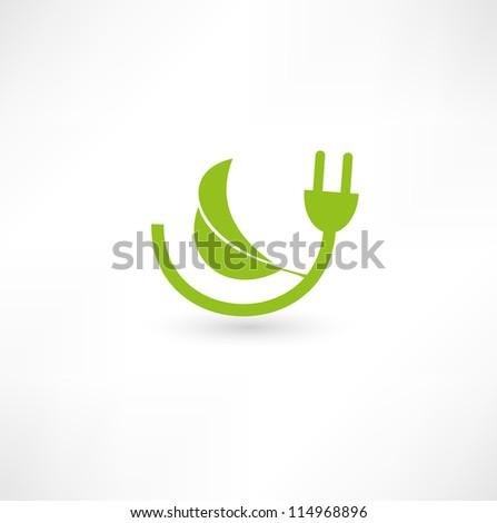 Green energy concept sign - stock vector