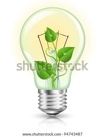 Green Energy Concept. Vector Illustration - stock vector
