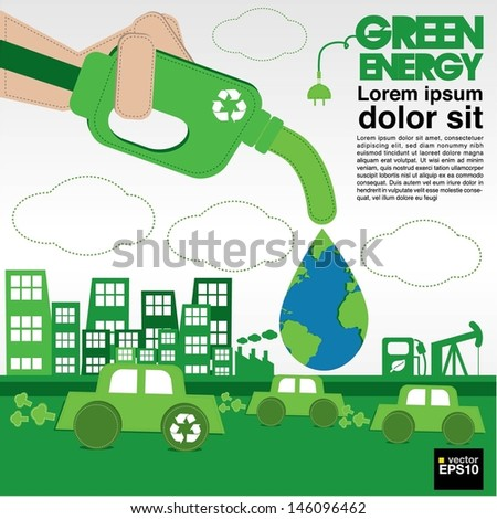 Green energy conceptual illustration vector.EPS10 - stock vector