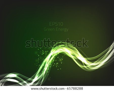 Green energy for your design. - stock vector