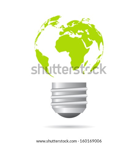 Green energy icon - stock vector