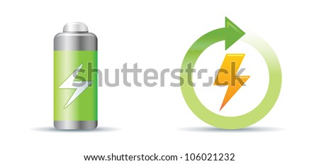 Green energy IconSet - stock vector