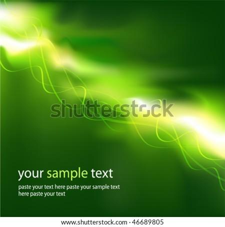 Green energy jet. Vector illustration. (Rgb-model, no transparency). - stock vector