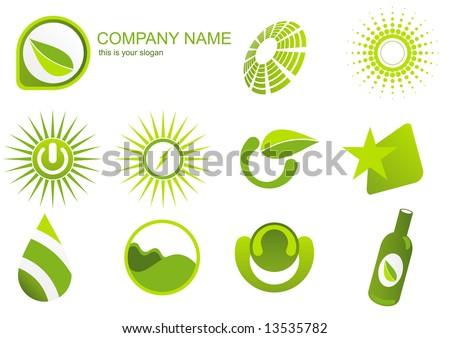 green energy logo - stock vector