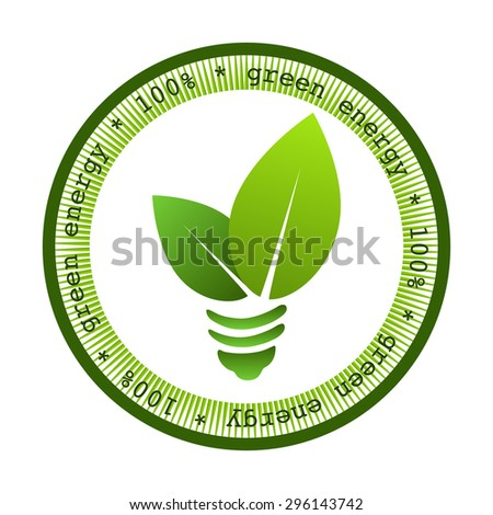 Green energy stamp design  / Eco design / Vector illustration  /