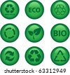 green environment and recycle icons - stock photo