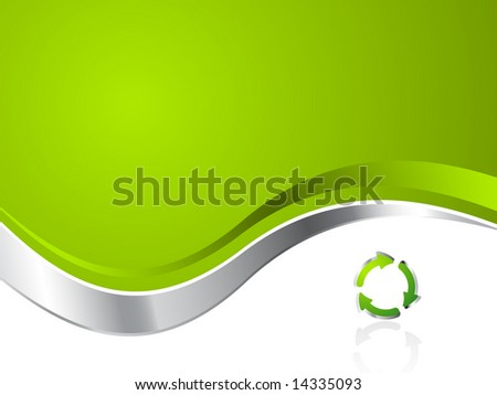 Green Environmental Recycling Business Background - Vector
