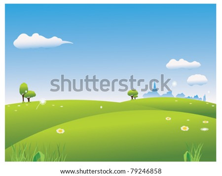 Green field - stock vector