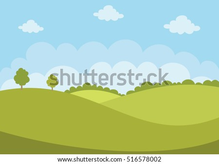 Green Flat Landscape