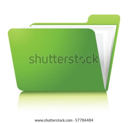 green folder.Vector - stock vector