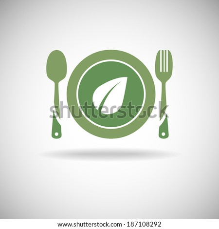 Green food icon - stock vector