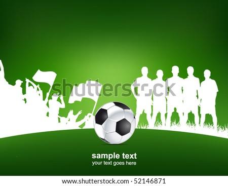 green football poster - stock vector