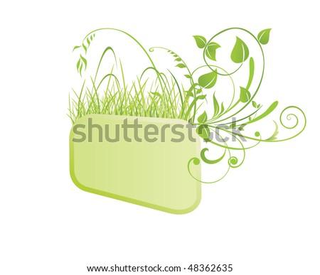 Green frame - stock vector