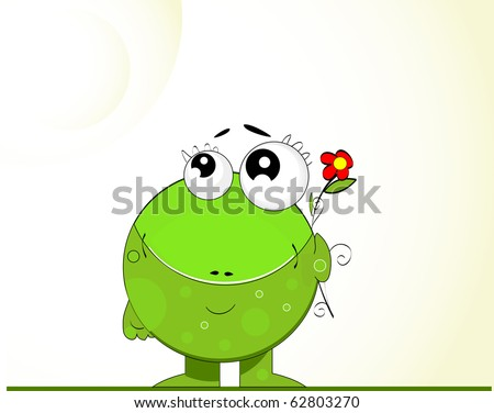 Green Frog vector. green day