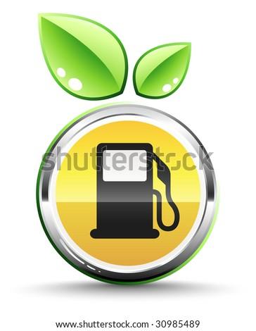 Green fuel icon - stock vector