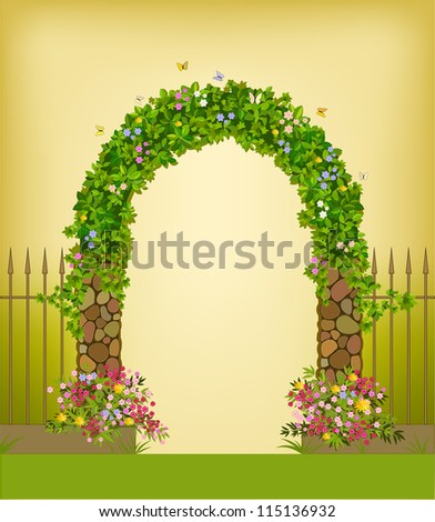 Garden Arch Stock Images Royalty Free Images Vectors Shutterstock
