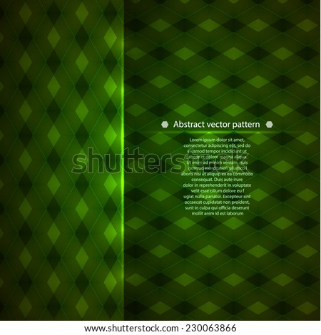 green geometric pattern. abstract background for your creativity. Vector illustration - stock vector