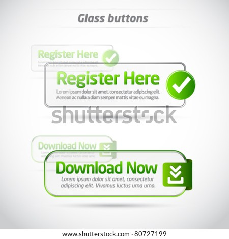 Green glass button collection