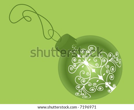 green glass christmas ball vector - stock vector