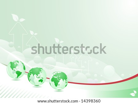 green globe abstract background design. separated layers in vector file.
