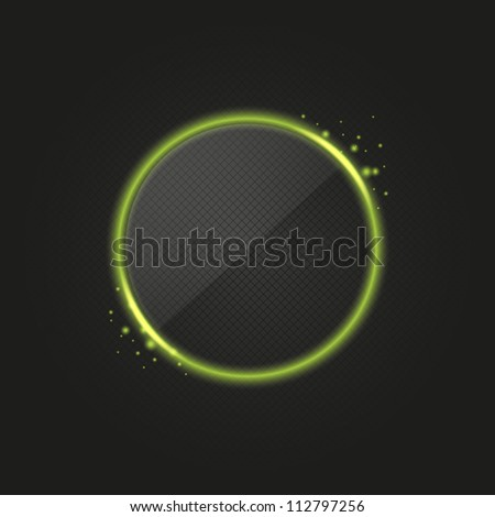 Green glowing ring - stock vector