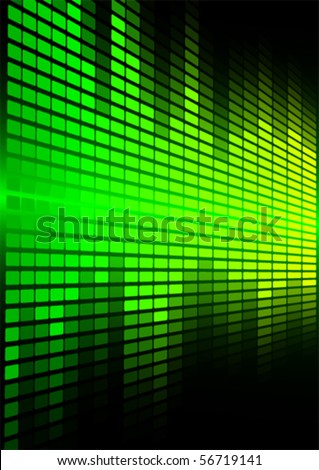 Green Graphic Equalizer - stock vector