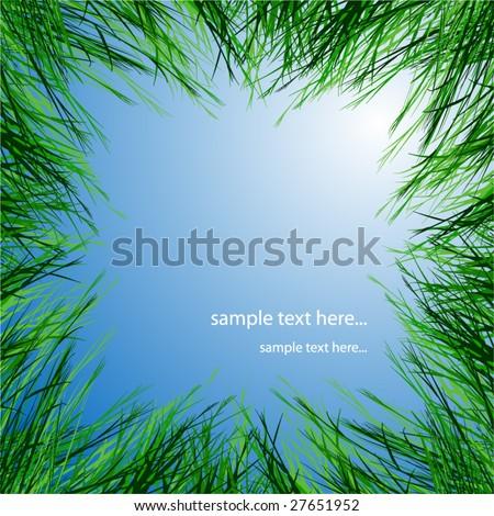 green grass - stock vector