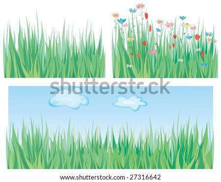 Green grass pattern - stock vector