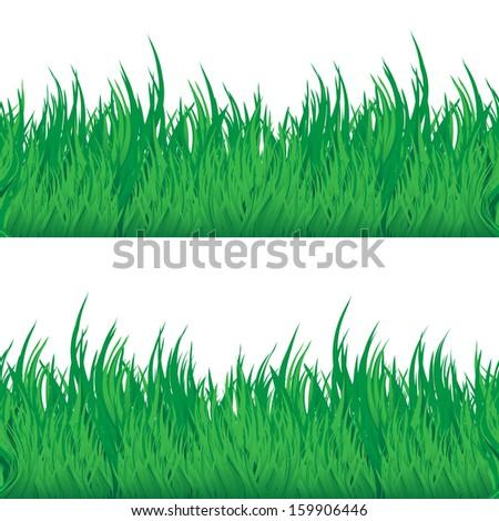 Green grass seamless texture. Abstract vector illustration. - stock vector