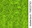 Green grass, vector seamless pattern - stock photo