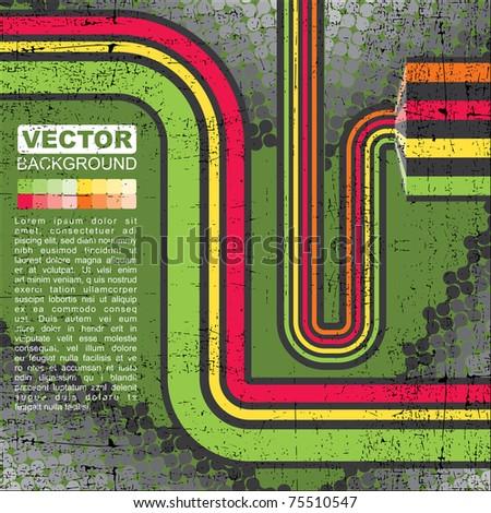 Green grunge background - Vector - stock vector