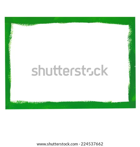 Green grunge frame - stock vector