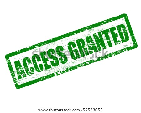 Green grunge rubber stamp with the text access denied written inside the stamp - stock vector