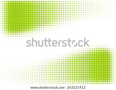 Green halftone frame or design elements - stock vector