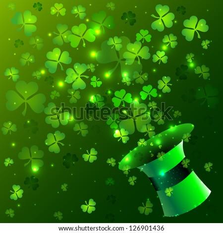 Green hat background - stock vector