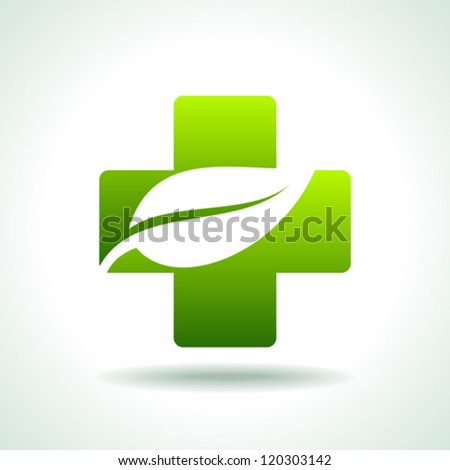 green health care Icon save environment concept - stock vector