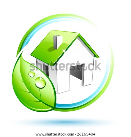green house - stock vector