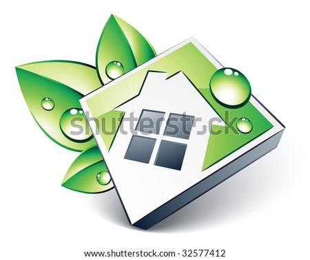 Green house - stock vector