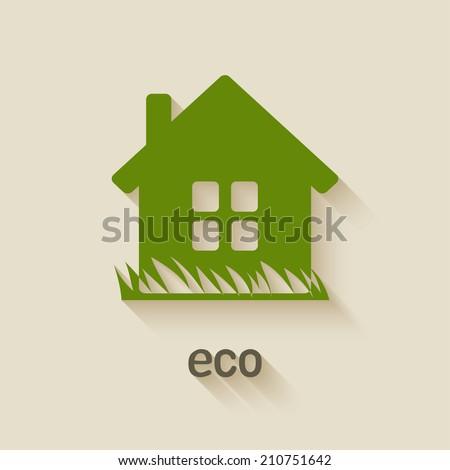 green house eco symbol - vector illustration. eps 10 - stock vector