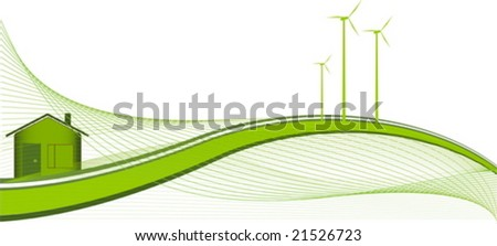 Green house - ecology theme - stock vector
