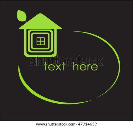 Green house. Vector frame for your text.
