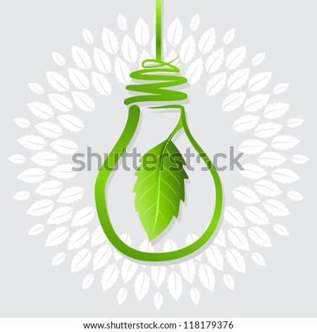 green idea for earth - stock vector
