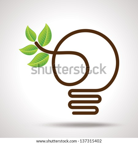 green idea for earth - stock vector