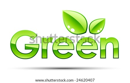 Green illustration - stock vector