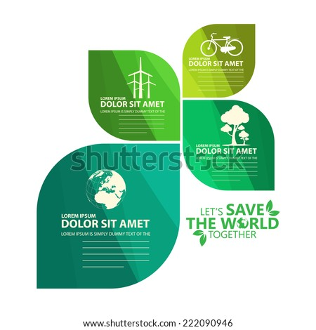 green infographic - stock vector