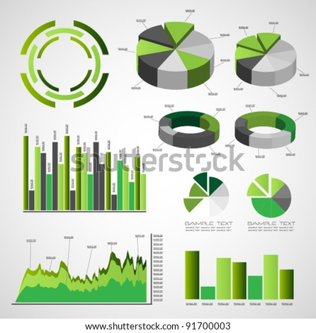 green infographic vector