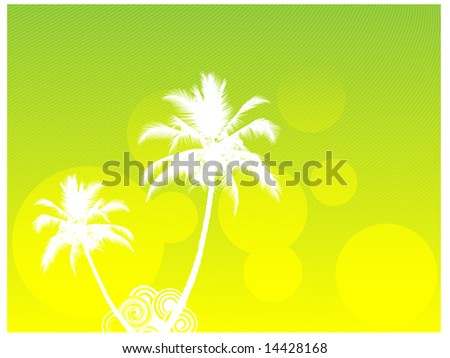 Green island summer sea paradise composition - stock vector